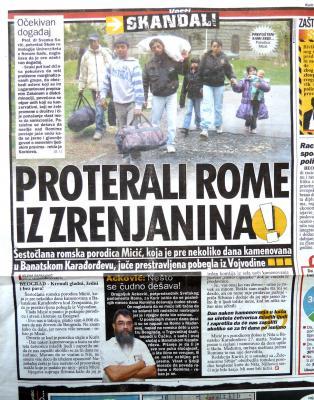 Beispiel der Familie Micics, die aufgrund von Rassismus gegen Roma in Serbien vertrieben wurde. Auf ihr Haus wurden Steine geworfen und sie mussten fliehen. Das Potential von Personen, die Roma angreifen, ist hoch. Da, wo der Staat vorgibt, dass Roma zur Bevölkerung gehören bzw. gehören sollen, greifen einerseits der bürgerliche Mob Roma an, aber andereseits setzt der Staat diese Vorgaben auch nicht um. In den letzen Jahren wurden unter anderem in Belgrad, Ungarn und in verschiedenen Orten in Serbien Roma angegriffen.