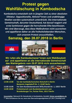 Demonstration 28. Juli 2018 - Deutsch