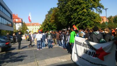 self-organised Eritreans Erfurt 2.10.2015